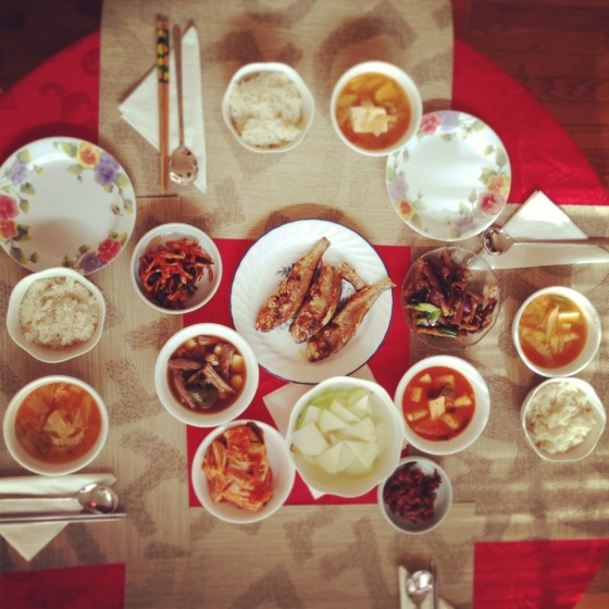 korean christmas brunch